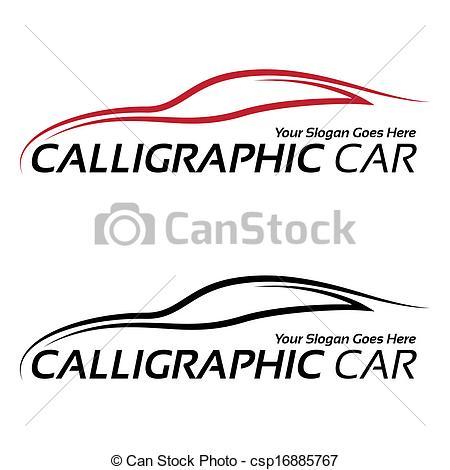 Calligraphic car logos.