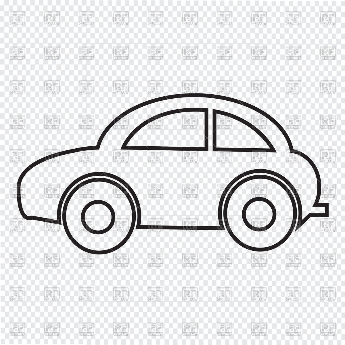 Outline Of A Car Clipart.