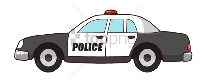 Police car clipart transparent background.