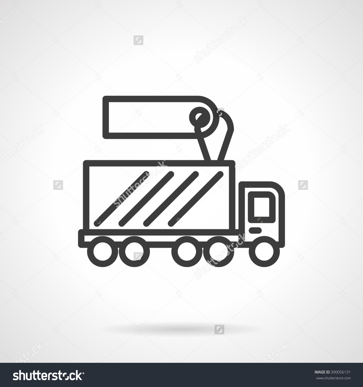 Shipping Or Delivery Truck With Blank Price Tag. Car Business.