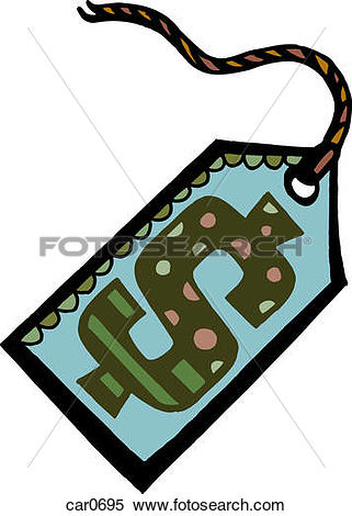 Stock Illustration of Illustration of a price tag with a dollar.