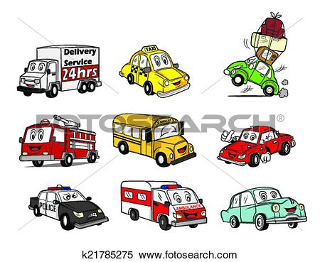 Clipart of Car Collection k21785275.