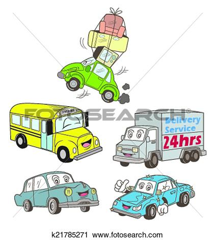 Clipart of Car Collection k21785271.