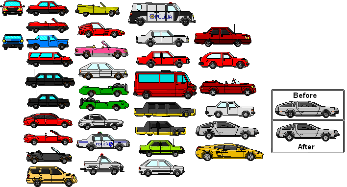 My Pixel Cars Collection by Mike.