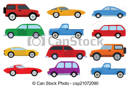 EPS Vectors of Simple cars collection.