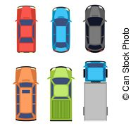 Vector of Multicolored car collection isolated on white background.
