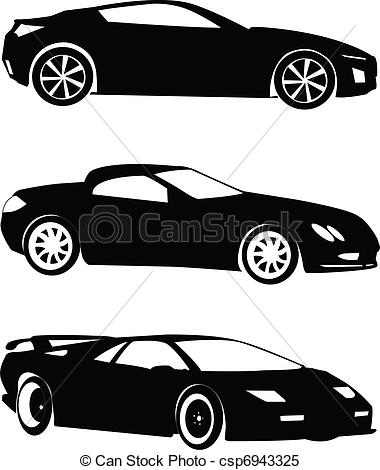 Clipart Vector of cars collection.