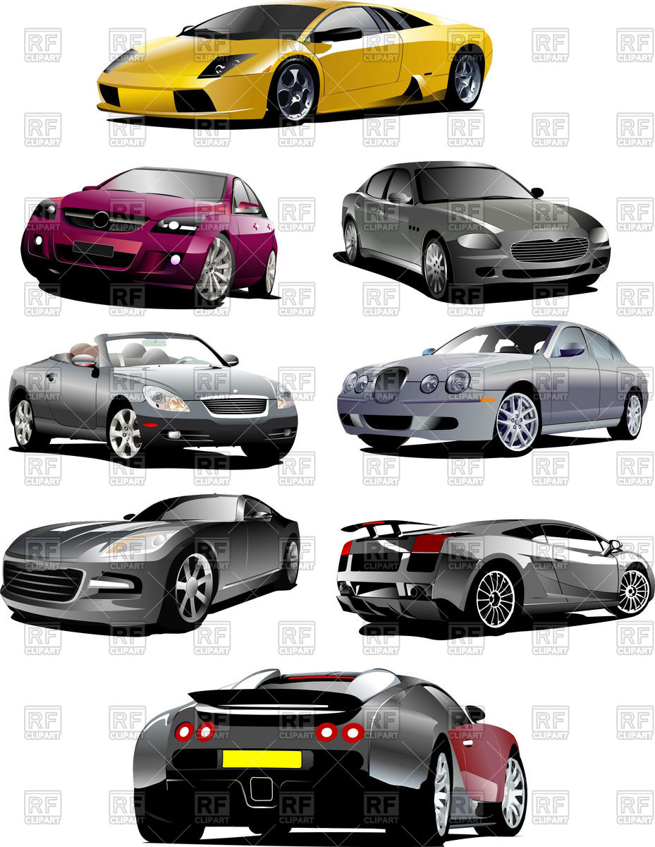 Collection sumptuous of sports car.