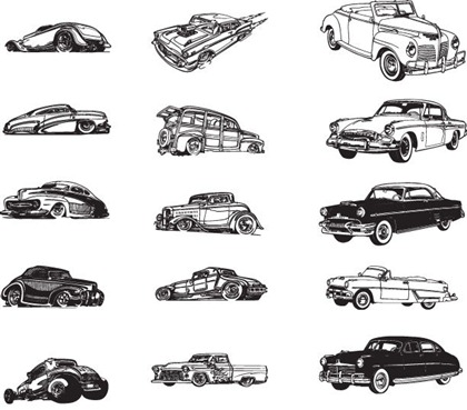 Cars Vector Collections Clipart.