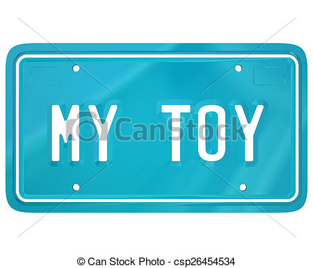 Stock Photos of My Toy License Plate Car Collector Hobby.