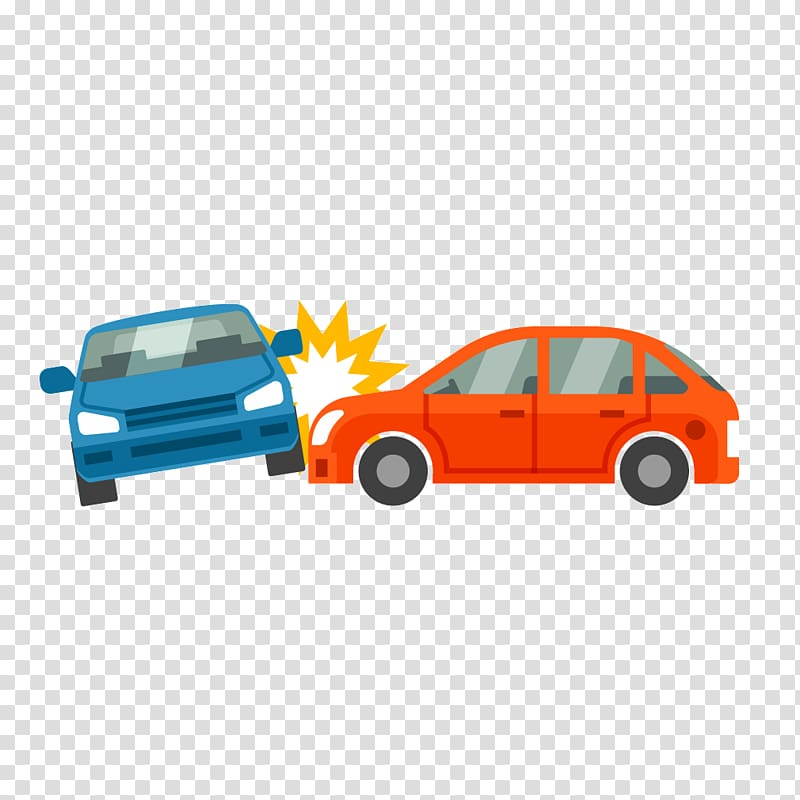 Two red and blue cars , Car Traffic collision Vehicle.