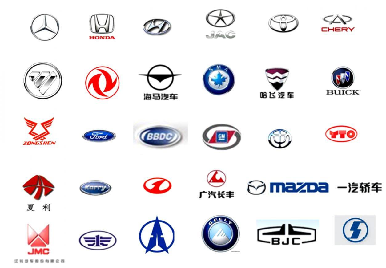 Chinese Car Company Logos.