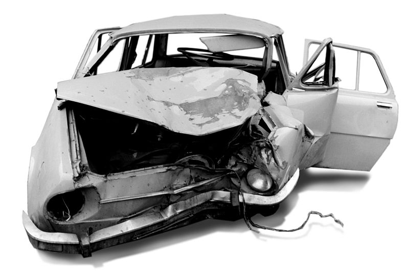 Car Crash Because Drugs Clipart.