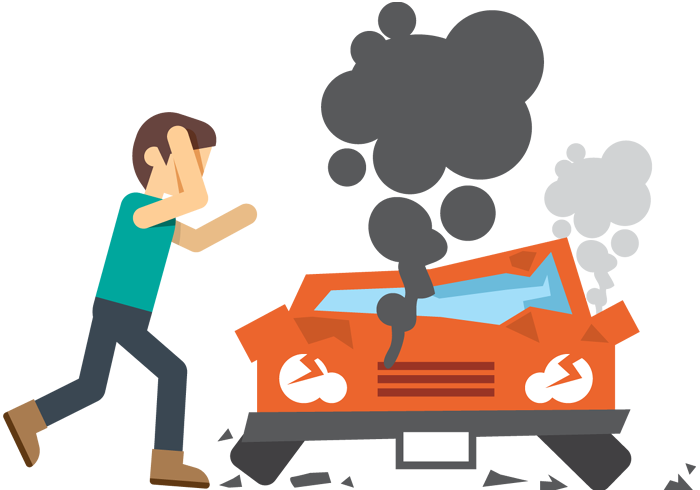 Car Crash Clipart Because Drugs.