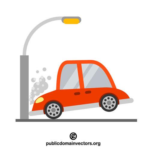 Car crash vector image.