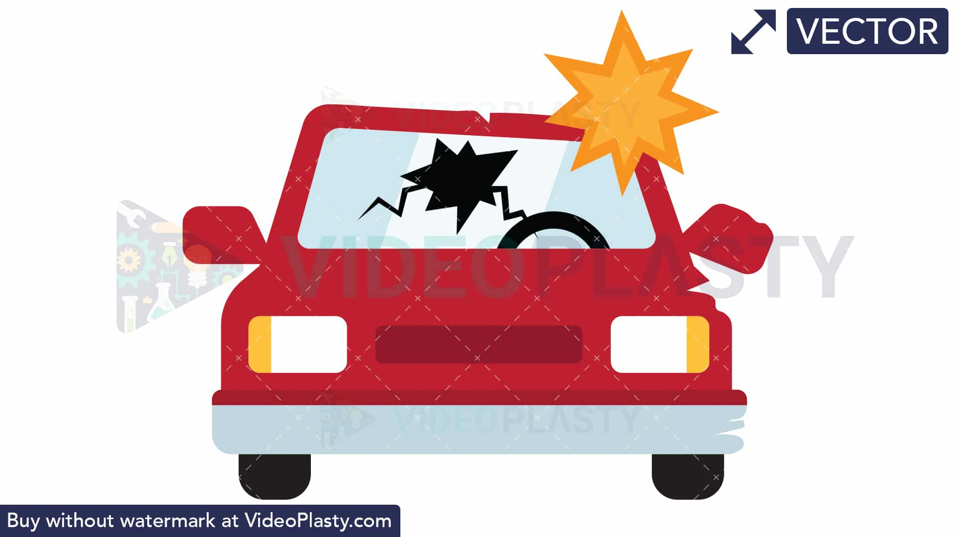 Car Crash Icon [VECTOR].