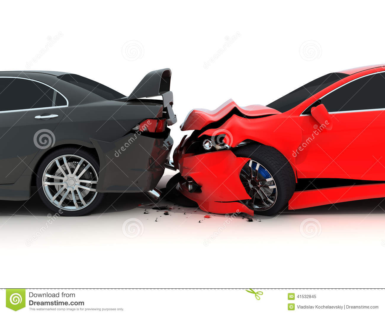 Car Crash Stock Illustration.