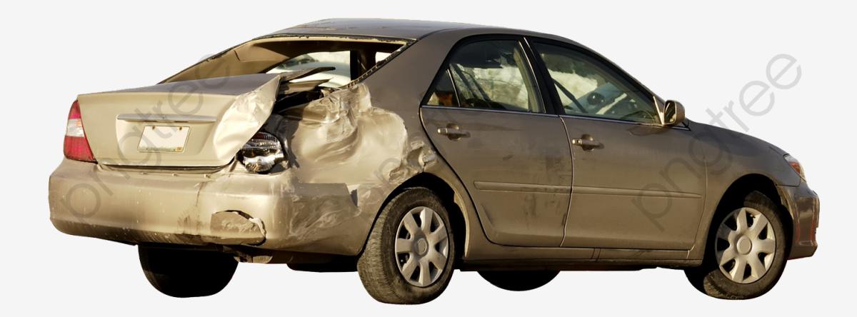 Car Crash Is Damaged, Crashed, Depression, Car Accident PNG.