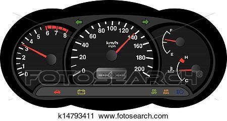 Car dashboard Clipart.