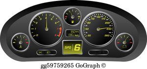 Car Dashboard Clip Art.