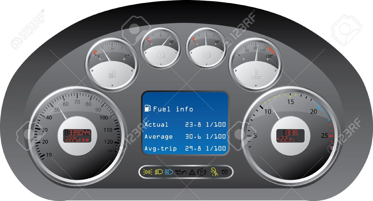 Car Dashboard Gauges Clipart Clipground