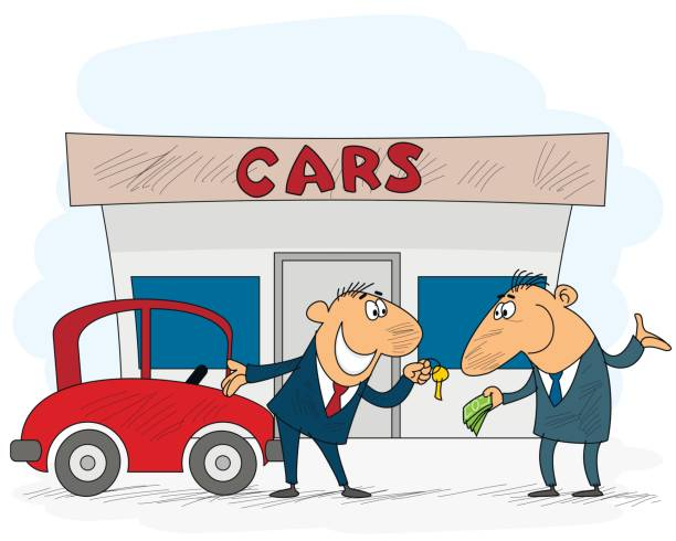 Best Used Car Dealer Illustrations, Royalty.