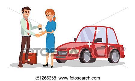 Car Dealer Salesperson Vector. Choosing New Machine Concept. Seller Man.  Cartoon Business Character Illustration Clip Art.