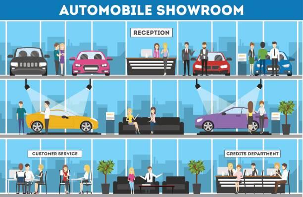 Best Car Dealership Illustrations, Royalty.