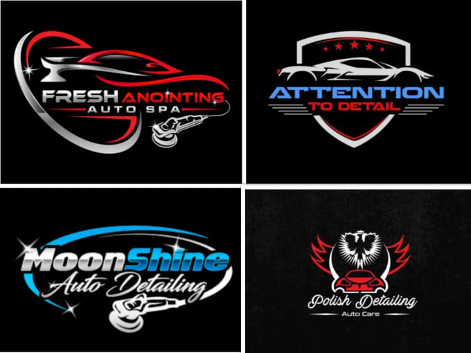do premium auto detailing and car wash logo.