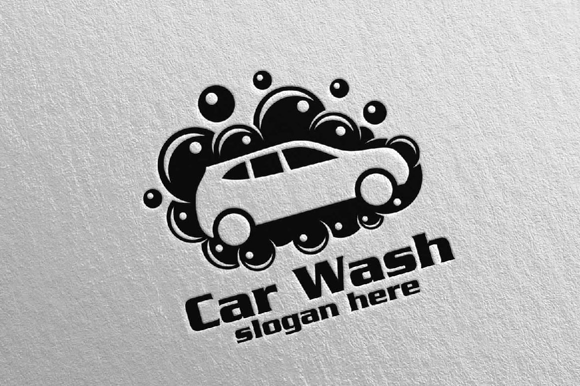 Car Wash Logo, Cleaning Car, Washing and Service Logo 10.