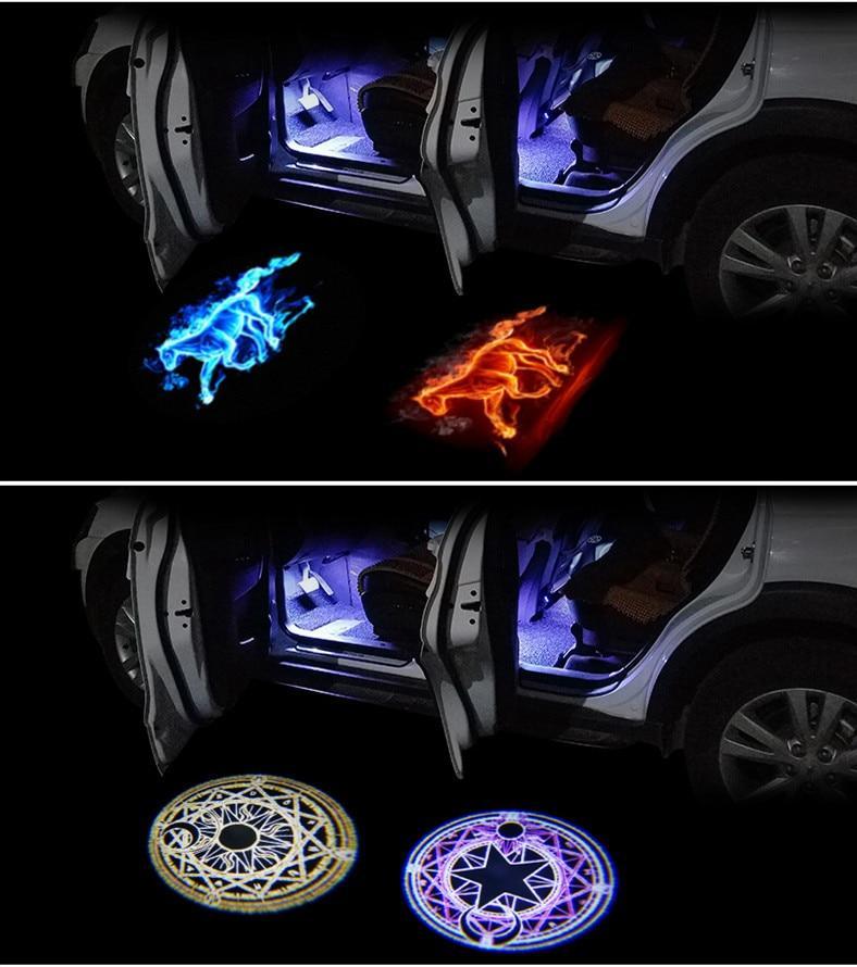 Car Door Paste Projector Light.