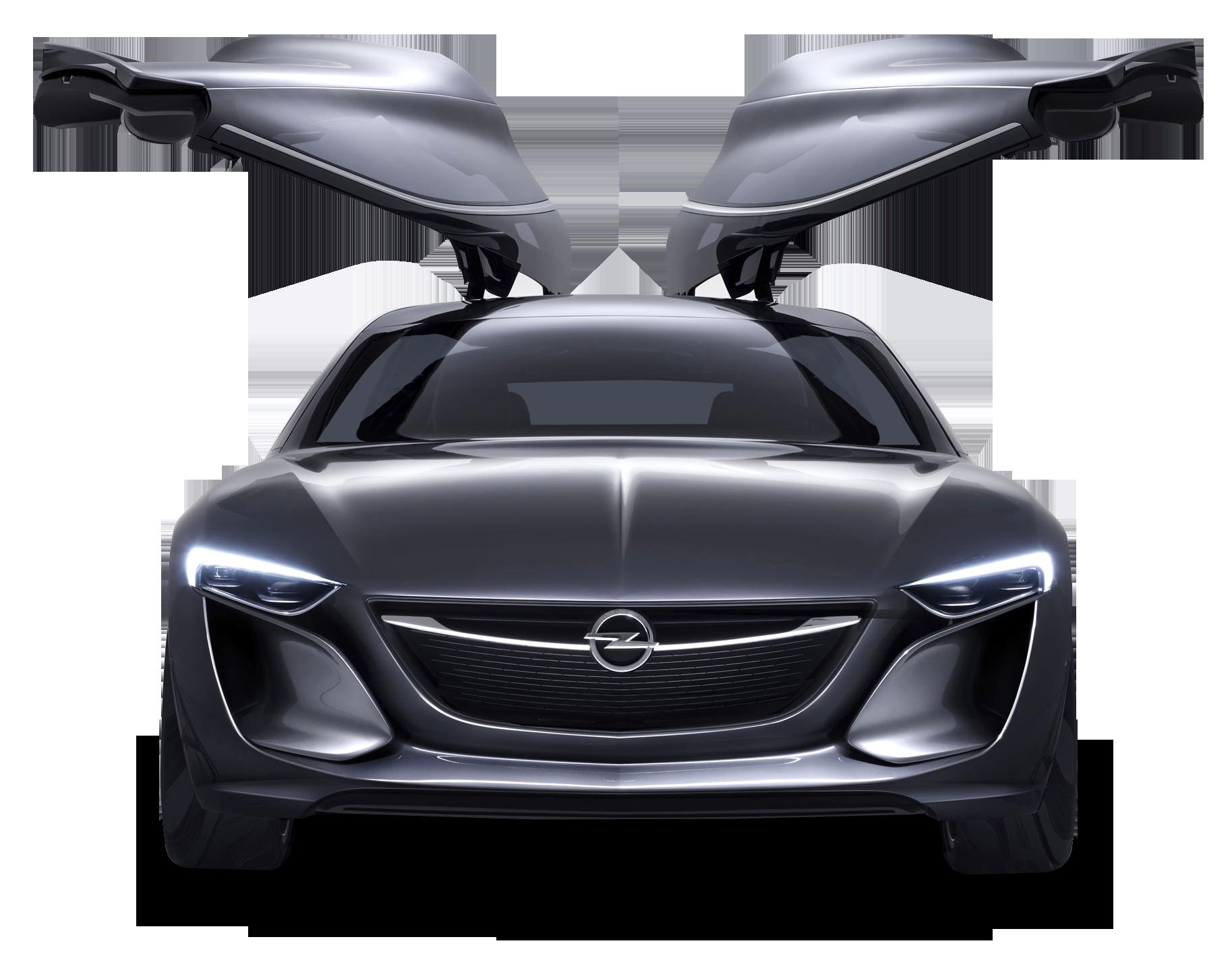 Opel Monza Doors Open Car PNG Image.