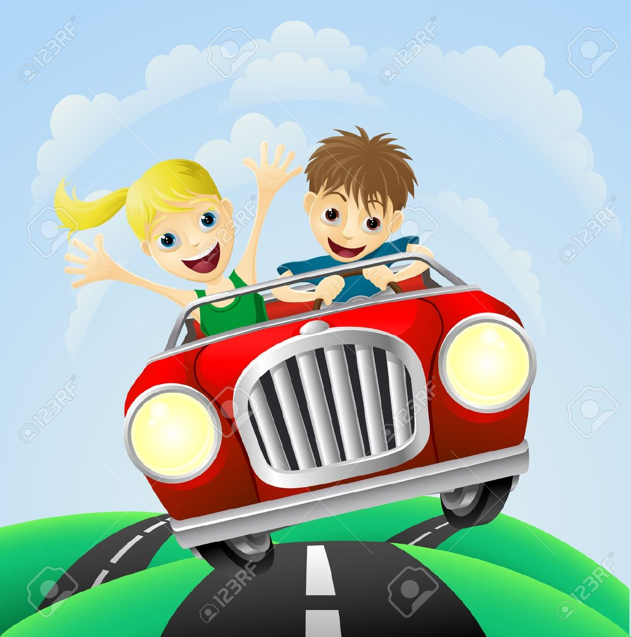 Showing post & media for Couple driving car cartoon.