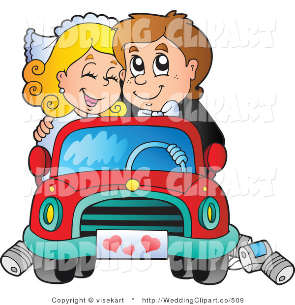 Clipart Couple In Car.