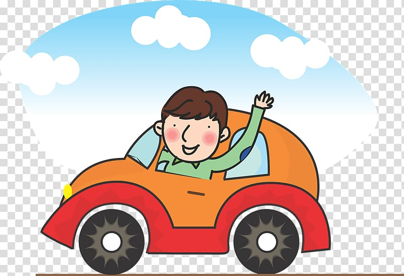 Car Driving Pixel, A man driving transparent background PNG clipart.