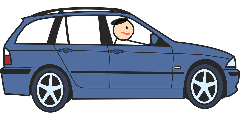 Car Driving Blue.