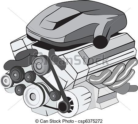 Clipart car engine.