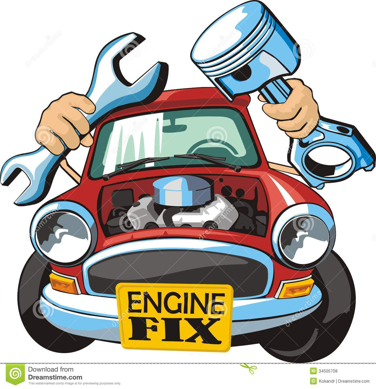 Car Engine Clipart.