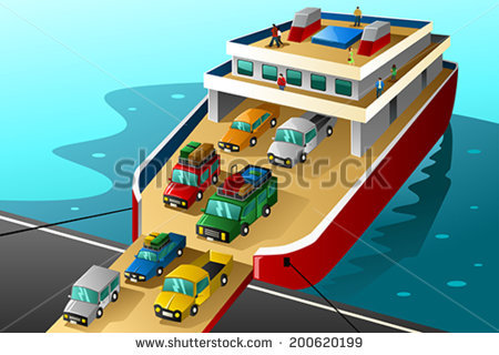 Car Ferry Stock Images, Royalty.