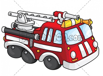 Fire car clipart.