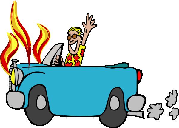 Car On Fire Clipart.
