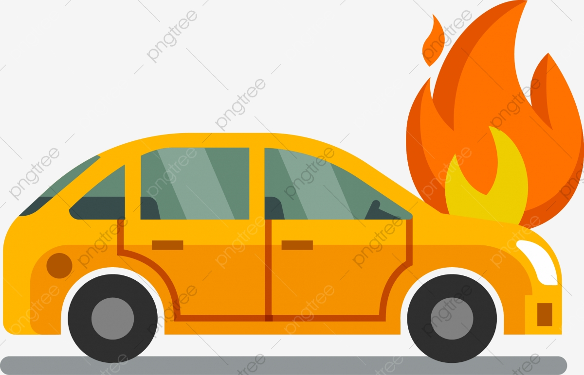 Car On Fire, Car Vector, Fire Vector, Car PNG and Vector with.
