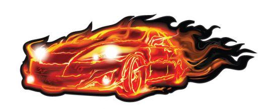Fire Car Vector eps.