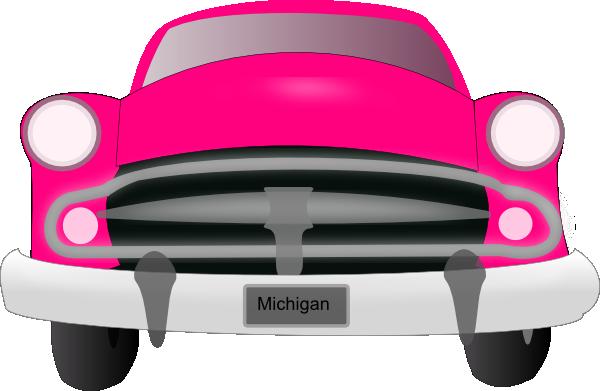 Pink Car Front Clip Art at Clker.com.