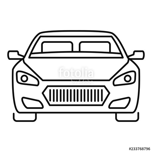 Collection of Car front clipart.