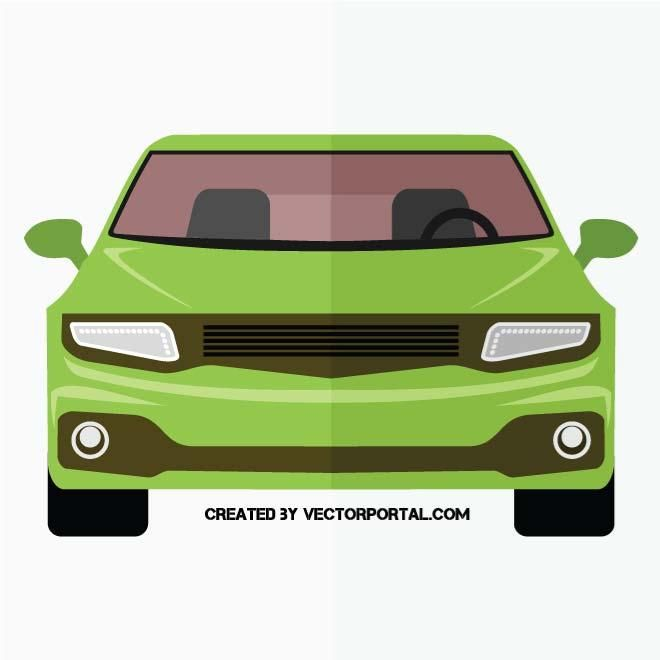 Car front side vector graphics..