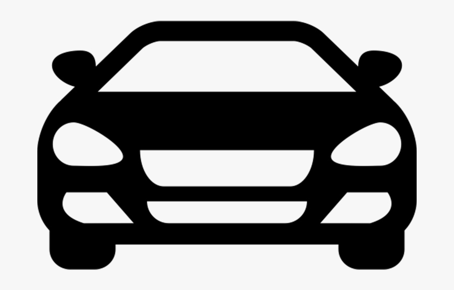 Front Simple Car Vector Clipart , Png Download.