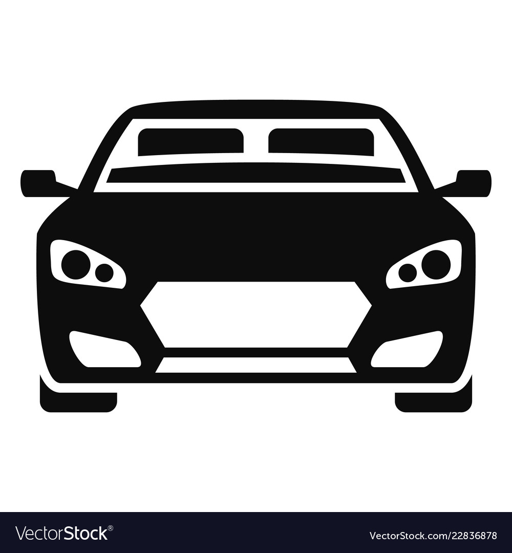 Front modern car icon simple style.