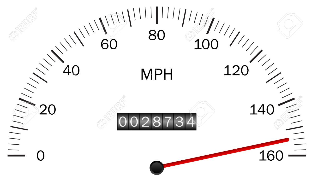 Vector Illustration Of A Speedometer Royalty Free Cliparts.
