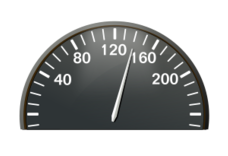 Car Dashboard Gauge Vector.